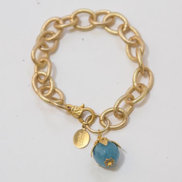 Gold Links w:Aquamarine
