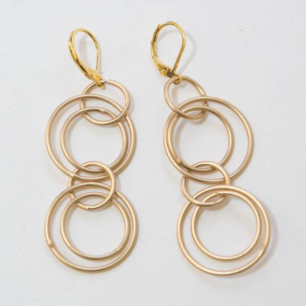 Gold Double Links Earrings
